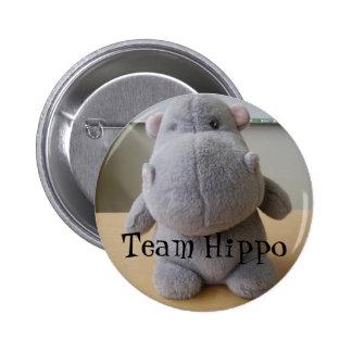 Hipopótamo da equipe bóton redondo 5.08cm
