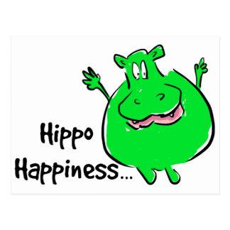 Hipopótamo da felicidade - cartão