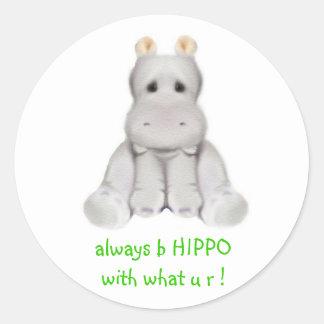 hipopótamo do quadril 2 B Adesivo