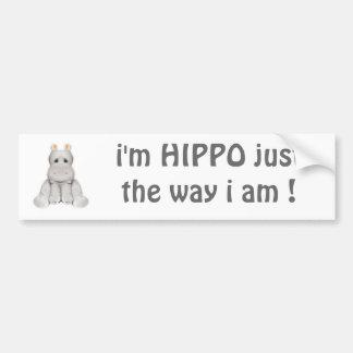 hipopótamo do quadril 2 B Adesivo Para Carro