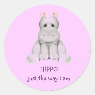 hipopótamo do quadril 2 B Adesivos