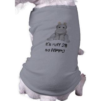 hipopótamo do quadril 2 B Camisa Sem Mangas Para Cachorro