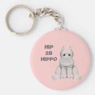 hipopótamo do quadril 2 B Chaveiro