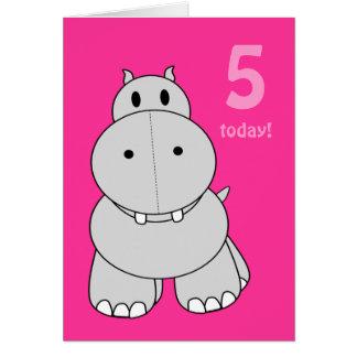 Hipopótamo dos amigos dos retalhos cartao