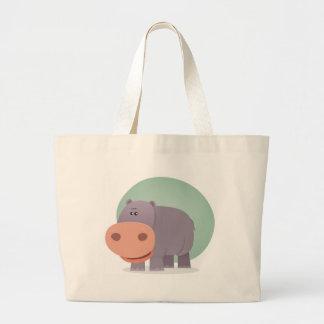 Hipopótamo dos desenhos animados bolsas