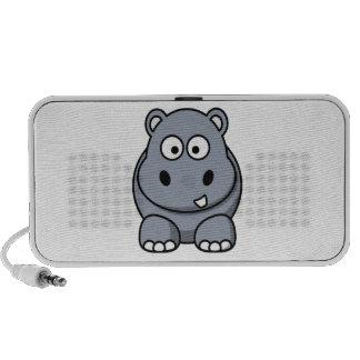 Hipopótamo dos desenhos animados caixinha de som portátil