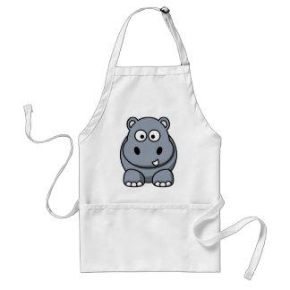 Hipopótamo engraçado avental