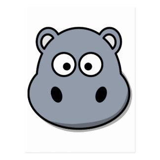 Hipopótamo engraçado dos desenhos animados cartão postal
