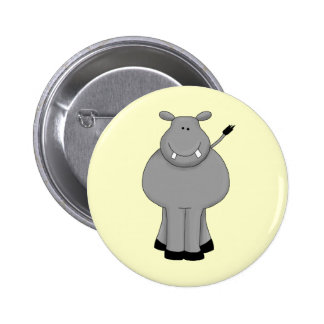 Hipopótamo feliz botons
