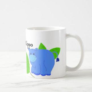 Hipopótamo feliz canecas