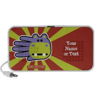 Hipopótamo feliz customizável caixinhas de som para viagem