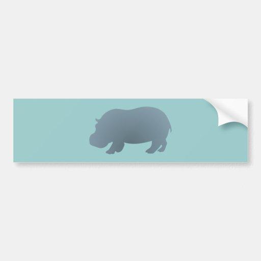 Hipopótamo hippo hippopotamus adesivo
