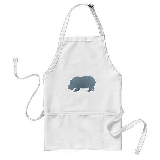 Hipopótamo hippo hippopotamus avental