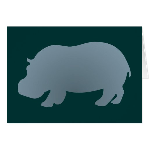 Hipopótamo hippo hippopotamus cartão