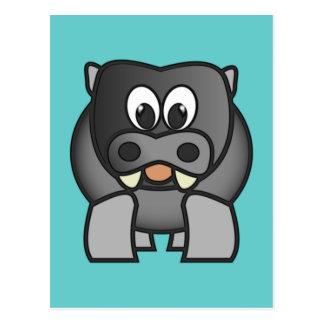 Hipopótamo hippo hippopotamus cartões postais