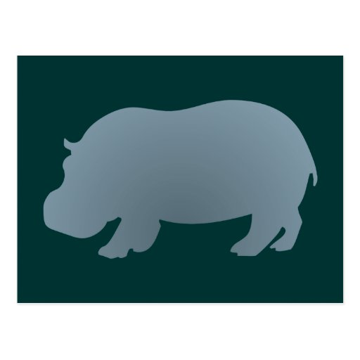 Hipopótamo hippo hippopotamus cartao postal