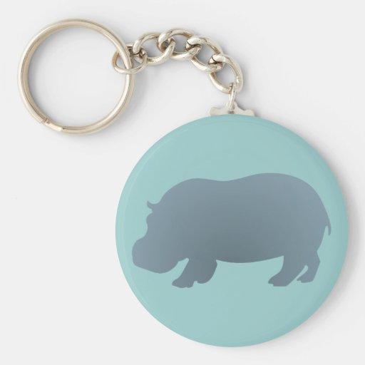 Hipopótamo hippo hippopotamus chaveiro