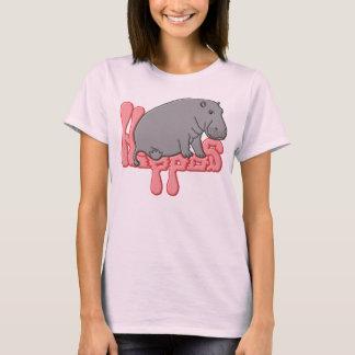 Hipopótamo pesado - rosa camiseta