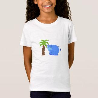 Hipopótamo por uma palmeira camiseta