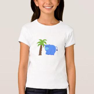 Hipopótamo por uma palmeira tshirts