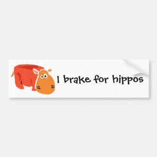 Hipopótamo primitivo engraçado da arte adesivo para carro