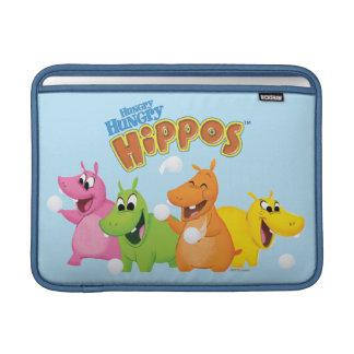 Hipopótamos com fome com fome bolsa para MacBook air