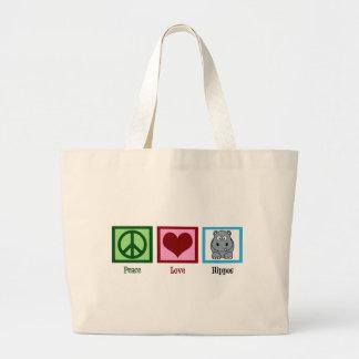 Hipopótamos do amor da paz bolsa para compra