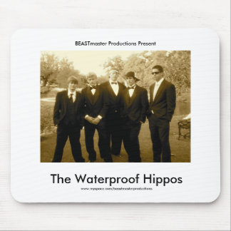 Hipopótamos impermeáveis oficiais Mousepad
