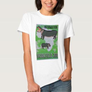 Hipopótamos no jardim zoológico de Brookfield! Camisetas