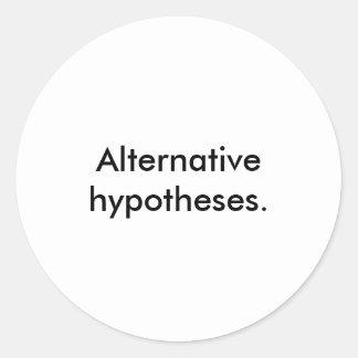 """""""Hipóteses alternativas."""" Etiquetas"""