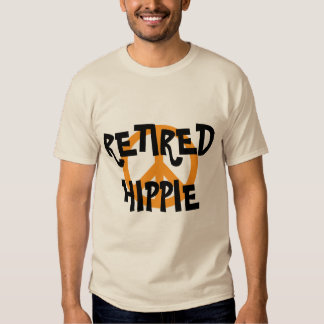 Hippie aposentado, símbolo de paz, camisa feita t-shirt
