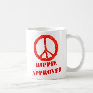 Hippie aprovado caneca de café