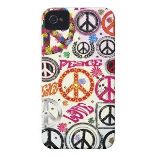 Hippie da paz & do amor de flower power capa para iPhone 4 Case-Mate