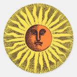Hippie feliz de sorriso Sun do amarelo celestial d