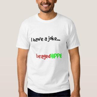 hippie irritado camiseta