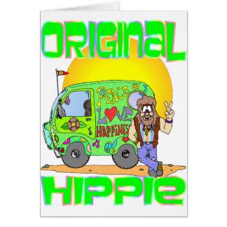 Hippie original cartão
