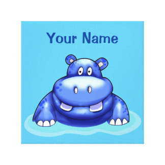 Hippo Impressão Em Tela