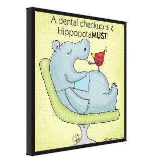 Hippopotamus dental do controle impressão em tela
