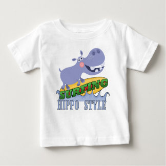 Hippopotamus do surfista t-shirts