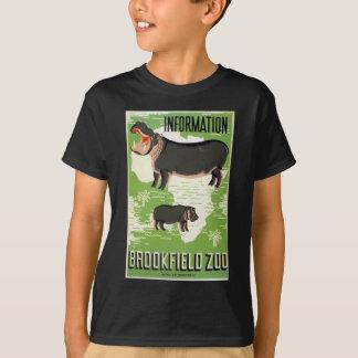 Hippopotamus WPA do jardim zoológico de Brookfield Camiseta