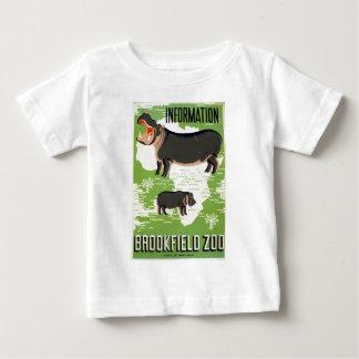 Hippopotamus WPA do jardim zoológico de Brookfield Camiseta Para Bebê