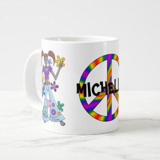 Hippy estrangeiro jumbo mug