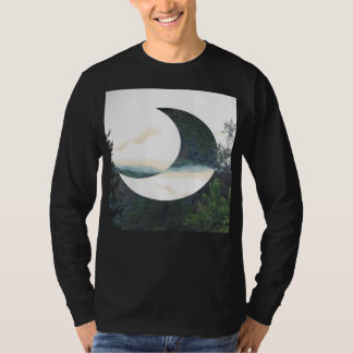 Hipster da lua da montanha camiseta