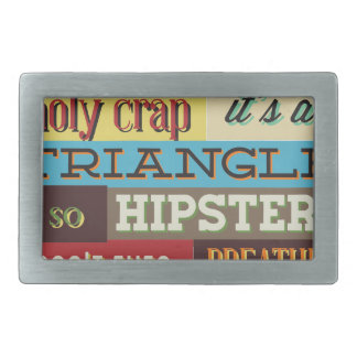 hipster e respiração do triângulo