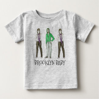 Hipster New York do bebê NYC Williamsburg de Camiseta Para Bebê