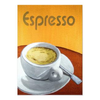 Hipster - pintura do café do café do vintage convite 11.30 x 15.87cm
