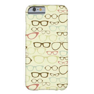Hipster retro do Eyeglass Capa Barely There Para iPhone 6