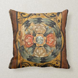 hist gótico velho do vintage de madeira medieval almofada