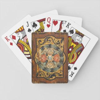hist gótico velho do vintage de madeira medieval cartas de baralho
