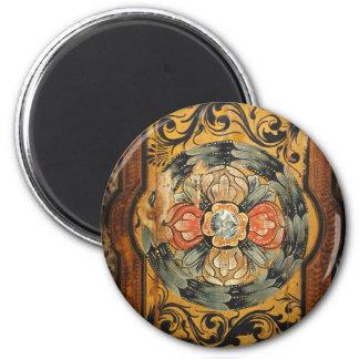 hist gótico velho do vintage de madeira medieval ímã redondo 5.08cm
